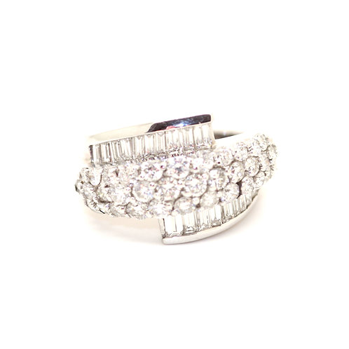 Fancy Diamond Half Eternity Ring