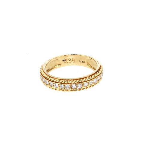 Round Brilliant Diamond Half Eternity Ring