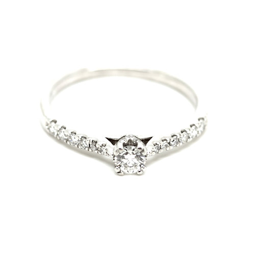O.3ct Diamond Solitaire Ring
