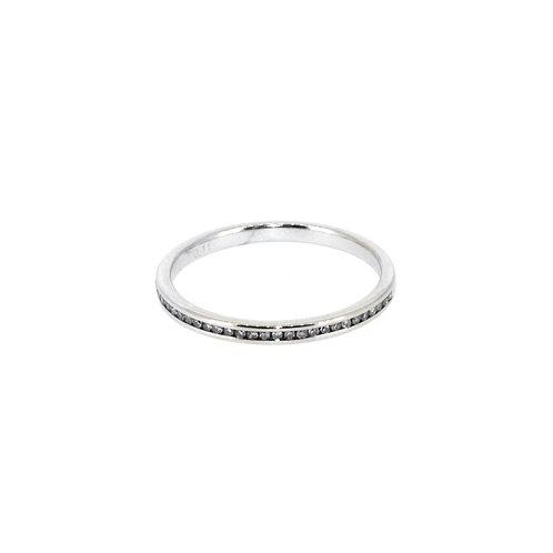 11ct Slim Half Eternity Ring