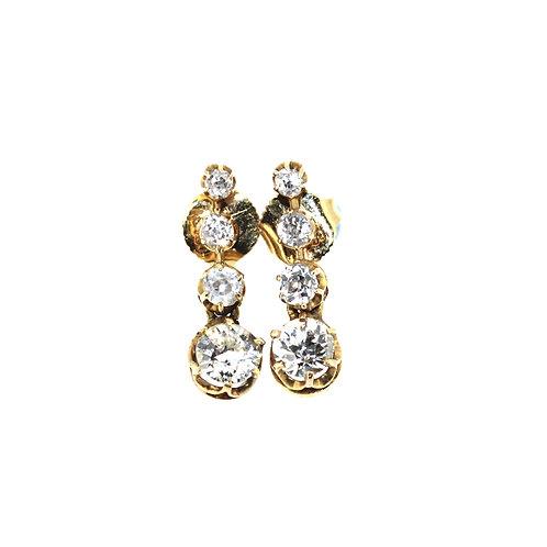 Diamond Old Cut Drop Earrings