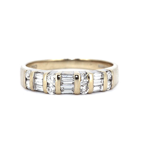Fancy Half Eternity Ring