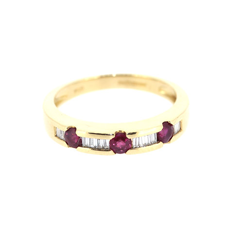 Ruby And BaguetteDiamond Eternity Ring