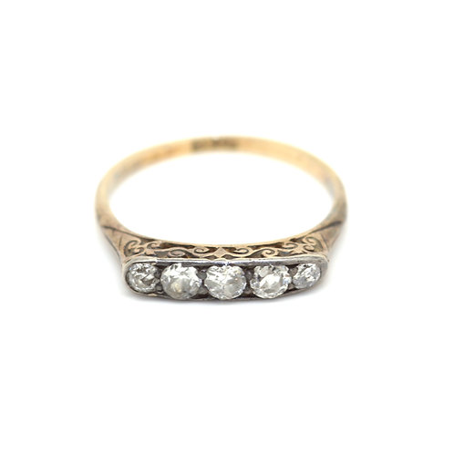 Edwardian Five Stone Diamond Ring