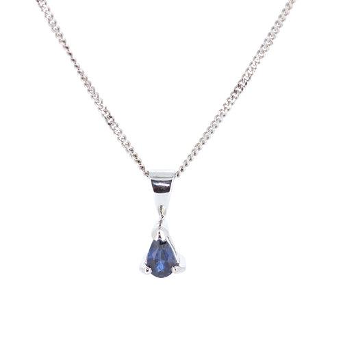 Pear-Shaped Sapphire Pendant