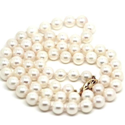 Japanese Akoya White Pearl Strand