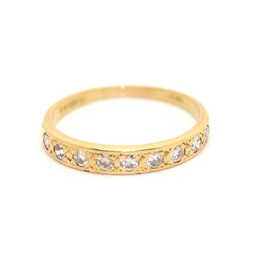 Yellow Gold Half-Eternity Ring