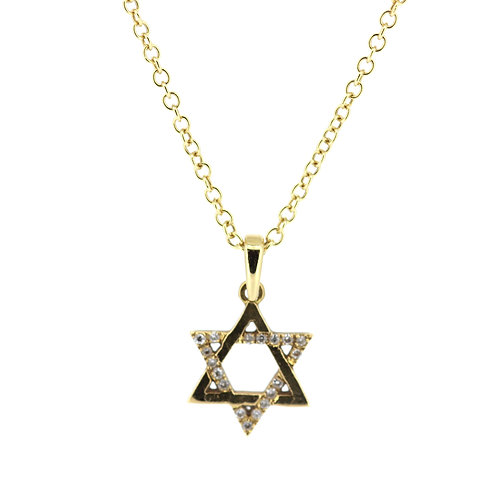 Mogen David Gold And Diamond Pendant