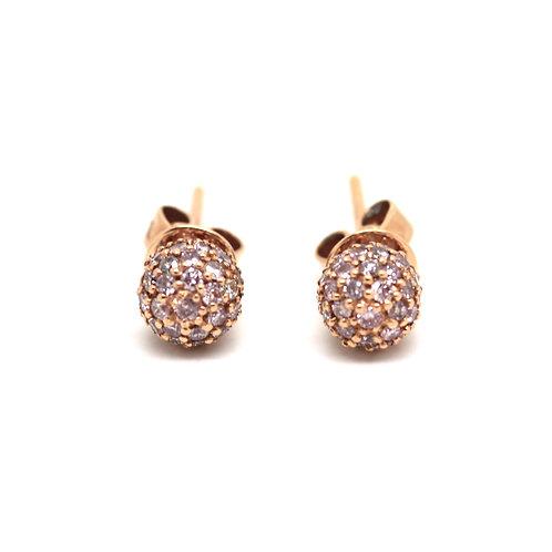 Fancy Pink Diamond ball earrings