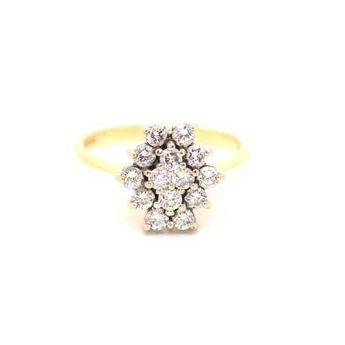 Octagonal Diamond Cluster Ring