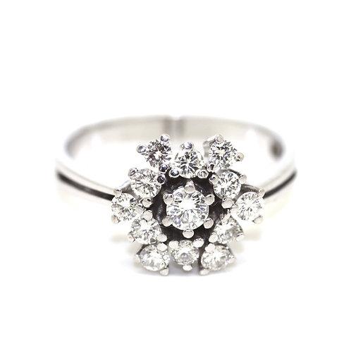 1.2ct Diamond Cluster Ring