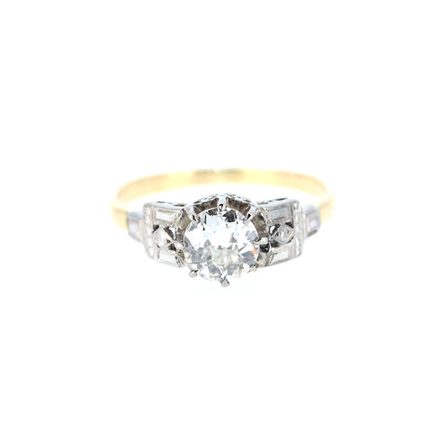 1.3ct  Old Cut Solitaire Ring