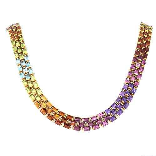 Multi Coloured Gemstone Necklace