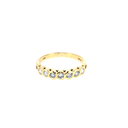 Modern Seven Stone Diamond Ring