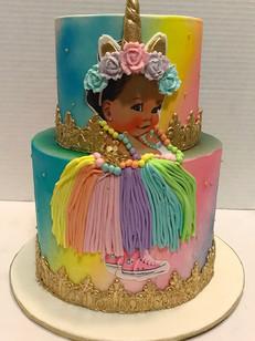 afro puff baby cake