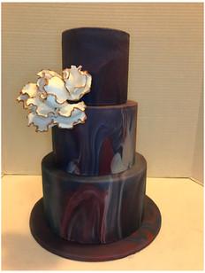 fall marble birthday cake