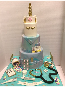 "unicorn nurse ""nursicorn"" cake"