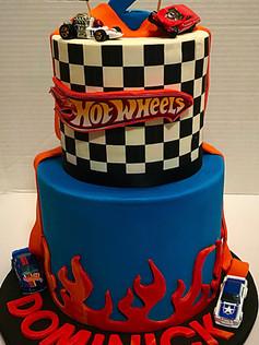 hotwheels car racing cake