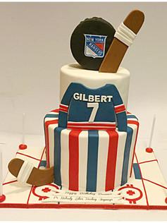 rangers hockey cake boomer esiason