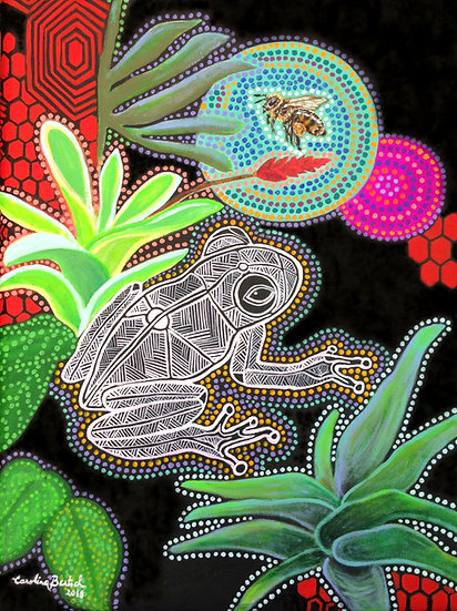 """Aboriginal Frog and Bee"""