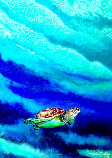 """Deep calm under the surface"""