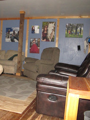 Large TV room Skinner Creek Guest Ranchk