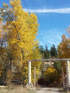 The gate into SKinner Creek Guest Ranch