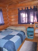downstairs cabin room queen bed