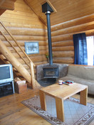 cabin sitting room Skinner Creek