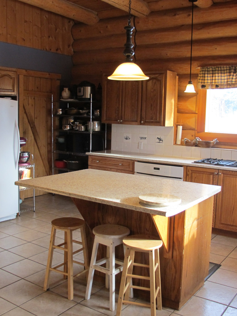 open kitchen Skinner Creek Guest Ranch