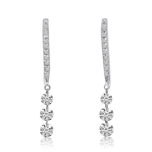 TRIPLE DIAMOND DASHING EARRINGS