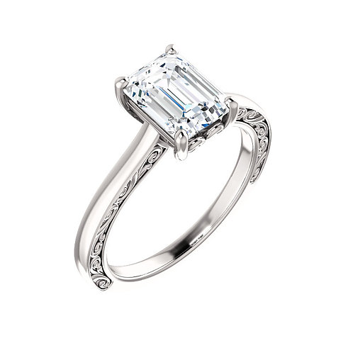 Solitaire Engagement Ring 123044
