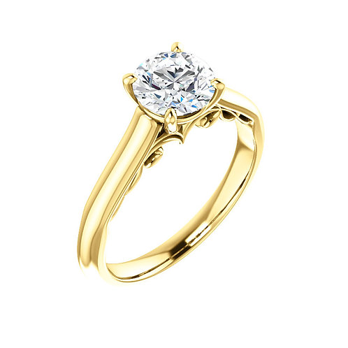 Solitaire Engagement Ring 122903