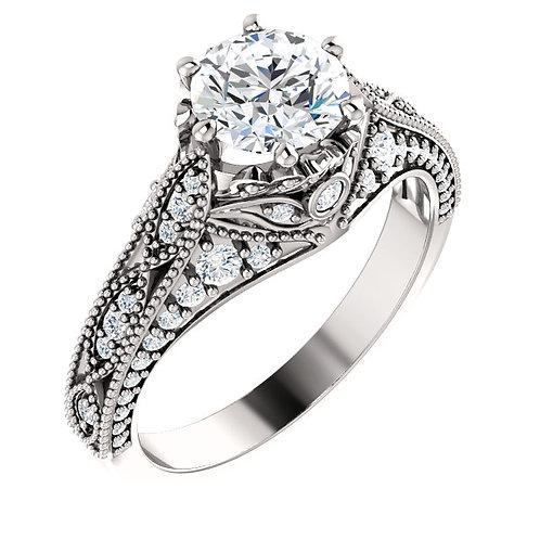 Vintage Inspired Engagement Ring 123827