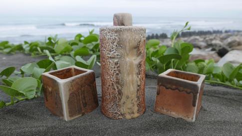 Woodfired Porcelain Sake Set