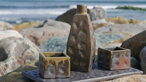 Woodfired Sake Set with Tray