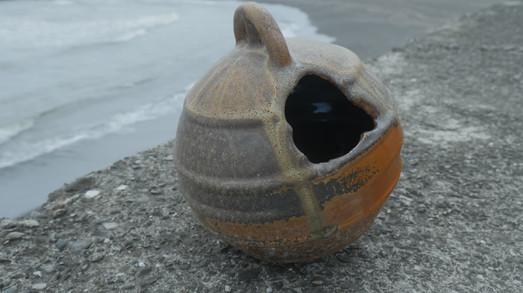 Woodfired Buoy Vase
