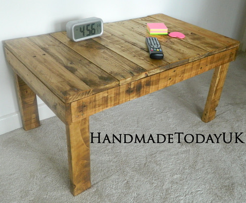 Handmade Rustic Industrial Coffee Table Made From Reclaimed Pallet Wood