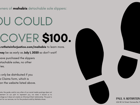 To Owners of Mahabis Detachable Slippers: You Could Recover $100