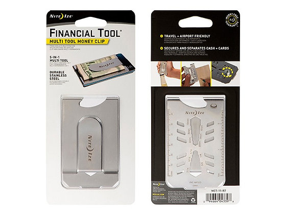 Money Clip - Multi Tool 5 en 1