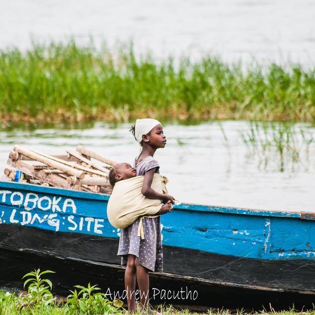 People of Lutoboka fishing community on