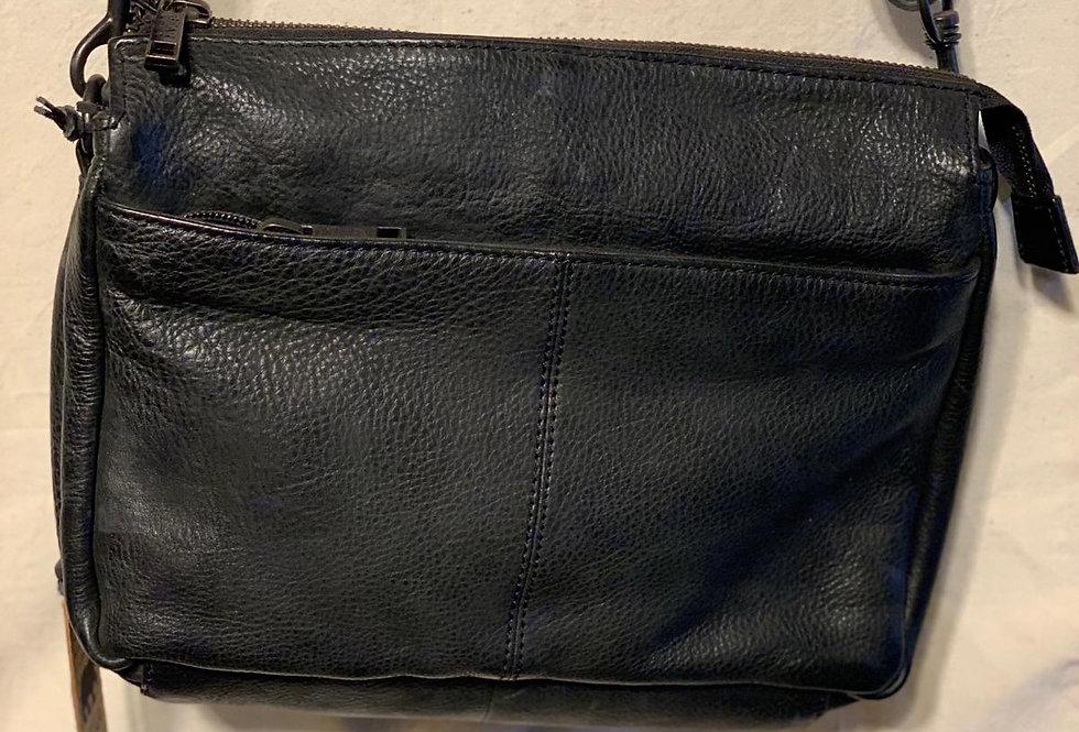 zwarte schouder tas