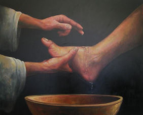 jesus-washing-the-feet-calvin-carter (1)