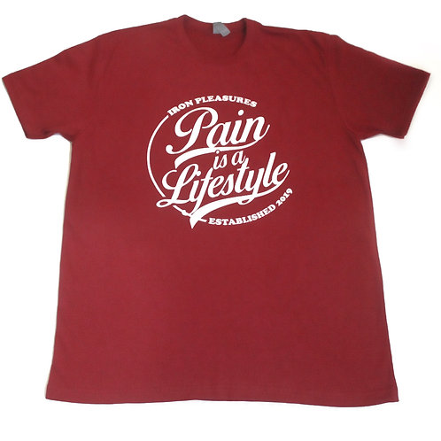 Pain is a lifestyle Shirt ( Cardinal Red)
