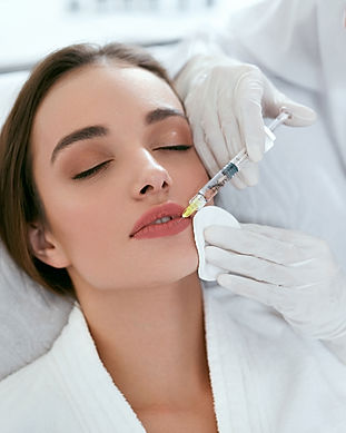 Lip Augmentation. Woman Getting Beauty I