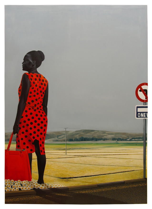 Woman in Red Dress, 2018