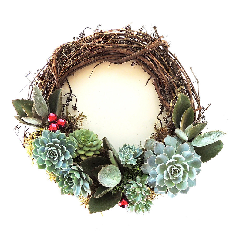 SOLD OUT Holiday Succulent Wreaths + Mimosas