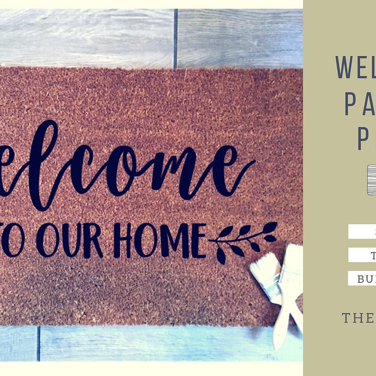 SOLD OUT Welcome Mat Painting + Pilsners