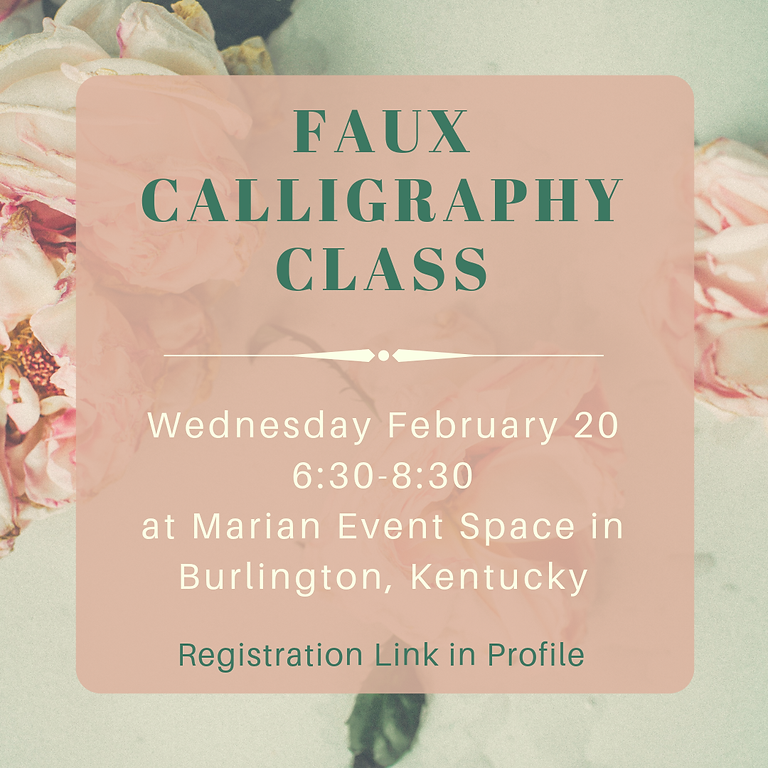 SOLD OUT Faux Calligraphy Class with Jen K.