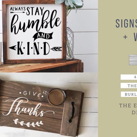 Signs, Trays + WINE